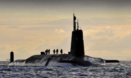 Tàu ngầm hạt nhân HMS Vanguard của hải quân Anh. Ảnh: Royal Navy.