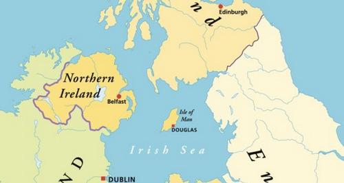 Sự cố xảy ra trên vùng Biển Ireland. Đồ họa: Irish Times.