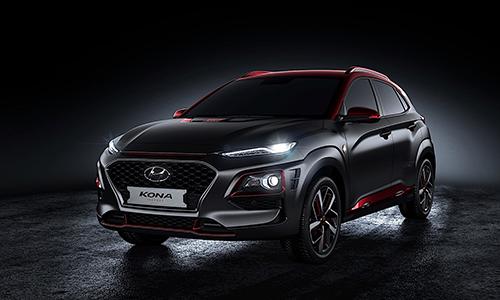 Hyundai Kona phong cách Iron Man dành cho thị trường châu Âu. Ảnh: Hyundai.