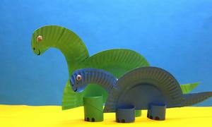 Sáng tạo con khủng long từ đĩa giấy