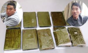 Công an Lào Cai bắt hai người vận chuyển 10 bánh heroin