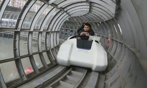 Trung Quốc xây đường ống để thử nghiệm tàu siêu tốc 430 km/h