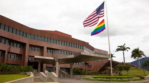Đại sứ quán Mỹ tại Venezuela. Ảnh: Facebook.