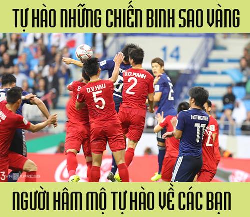 NHM bóng đá nước nhà tự hào về đội tuyển.