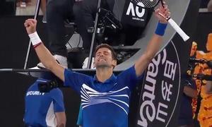 Novak Djokovic 3-0 Lucas Pouille