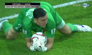 Đặng Văn Lâm được bình chọn cầu thủ xuất sắc trận tứ kết