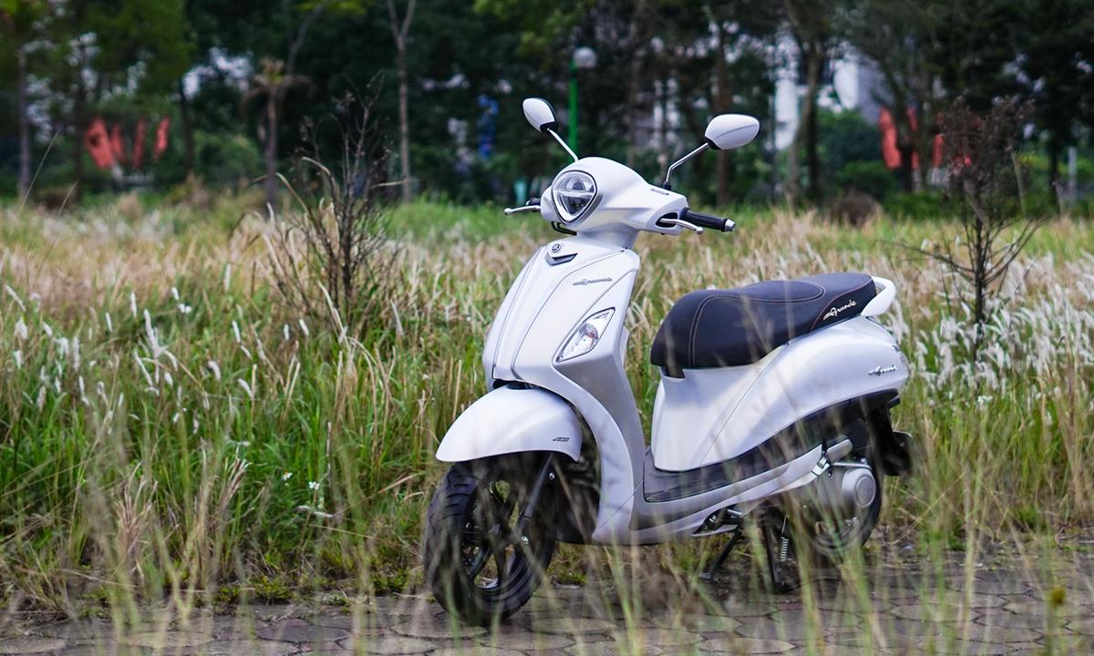 Yamaha Grande Hybrid - xe ga công nghệ mới cho phái nữ