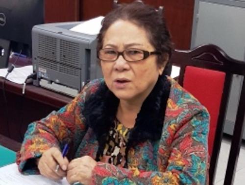 Bà Dương Thị Bạch Diệp tại cơ quan điều tra. Ảnh: Bộ Công an.