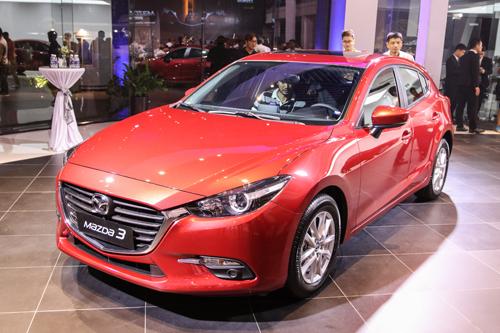 Mazda3 bản nâng cấp ra mắt hồi cuối 2017 tại Việt Nam.