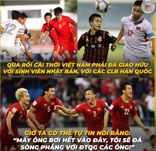 Giờ vị thế của bóng đá Việt Nam đã khác xưa.