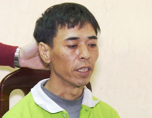 Nghi can Lê Văn Cẩn đang bị tạm giữ tại cơ quan CSĐT công an huyện Vũ Thư, tỉnh Thái Bình để điều tra về hành vi cướp tài sản. Ảnh: Công an Thái Bình cung cấp