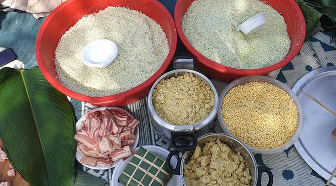Nấu bánh chưng Tết giữa những cao ốc Arab