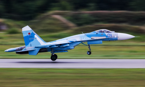 Tiêm kích Su-27 trong biên chế không quân Nga. Ảnh: Russian Planes.