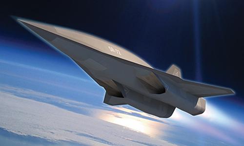 Đồ họa máy bay siêu vượt âm của Mỹ. Ảnh: Lockheed Martin