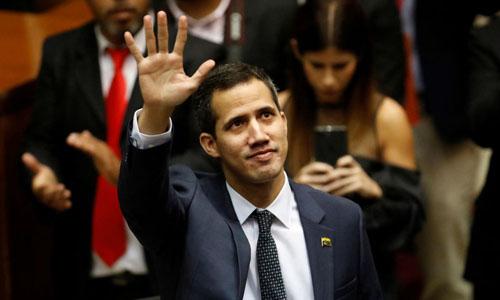 Chủ tịch Quốc hội Venezuela Juan Guaido. Ảnh: Reuters.
