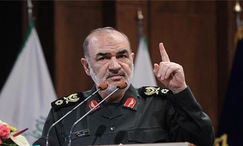 Chuẩn tướng Hossein Salami, phó tư lệnh Vệ binh Cách mạng Hồi giáo Iran. Ảnh: KNA.