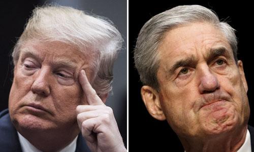 Tổng thống Mỹ Donald Trump (trái) và công tố viên đặc biệt Robert Mueller. Ảnh: Vox.