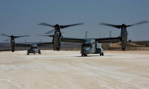Lực lượng Mỹ triển khai ở căn cứ Sarrin hồi năm 2018. Ảnh: USMC.
