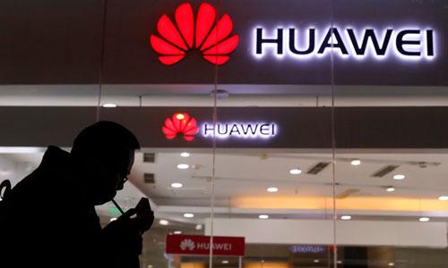 Gian hàng Huawei tại một triển lãm công nghệ ở Bắc Kinh, Trung Quốc. Ảnh: AP.