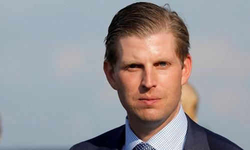 Eric Trump, con trai Tổng thống Mỹ Donald Trump. Ảnh: Reuters.