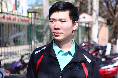 Bị cáo Hoàng Công Lương trong phiên toà chiều nay. Ảnh: Phạm Dự.
