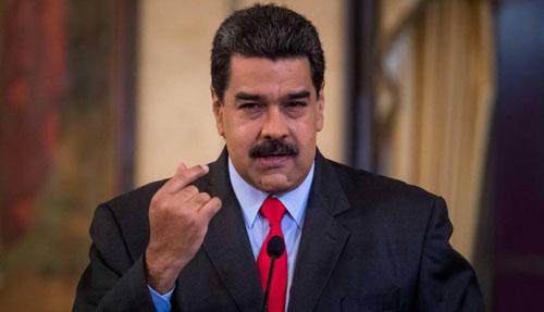 Tổng thống Maduro tại một cuộc họp báo ở Caracas tháng 2/2018. Ảnh: EFE.