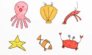 Cách vẽ sinh vật biển từ những chữ số