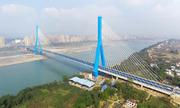 Trung Quốc thông xe cầu treo 100 triệu đô vượt sông Trường Giang