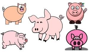 Những cách vẽ con lợn ngộ nghĩnh