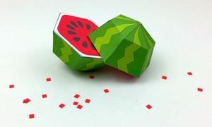 Cách làm quả dưa hấu bằng giấy đẹp mắt