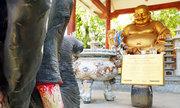 Tượng voi, tê giác kêu cứu dưới chân Phật ở Sài Gòn