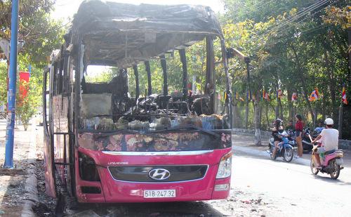 Chiếc xe bị hỏa hoạn. Ảnh: Nguyễn Khoa.
