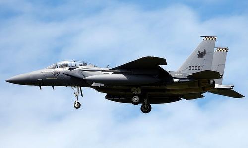 Chiến đấu cơ đa năng F-15SG trong biên chees không quân Singapore. Ảnh: RSAF.
