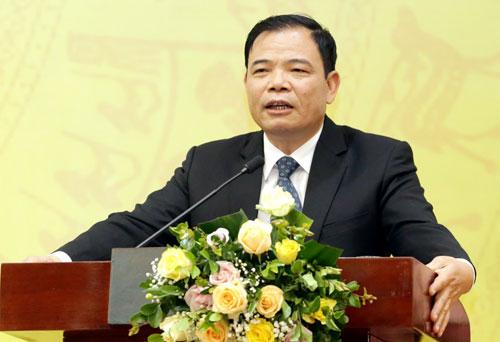 Bộ trưởng Nguyễn Xuân Cường phát biểu tại hội nghịtriển khai công tác ngành khoa học và công nghệ năm 2019. Ảnh: Anh Tuấn.