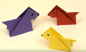 Cách gấp chú chó giấy đơn giản cho trẻ tiểu học