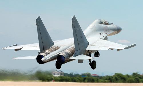 Một chiếc J-16 cất cánh huấn luyện hồi năm 2018. Ảnh: Sina.