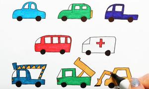 Cách vẽ các loại ôtô đơn giản