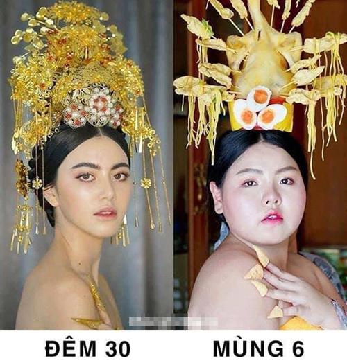 Sự khác nhau trước và sau Tết.