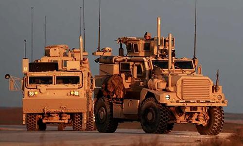 Thiết giáp Mỹ tuần tra tại Syria, tháng 12/2018. Ảnh: NDTV.
