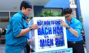 Tủ bách hóa miễn phí phục vụ người nghèo ở Sài Gòn
