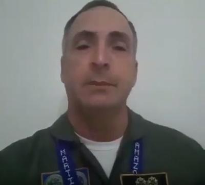 Tướng không quân Venezuela Francisco Yanez. Ảnh chụp màn hình.