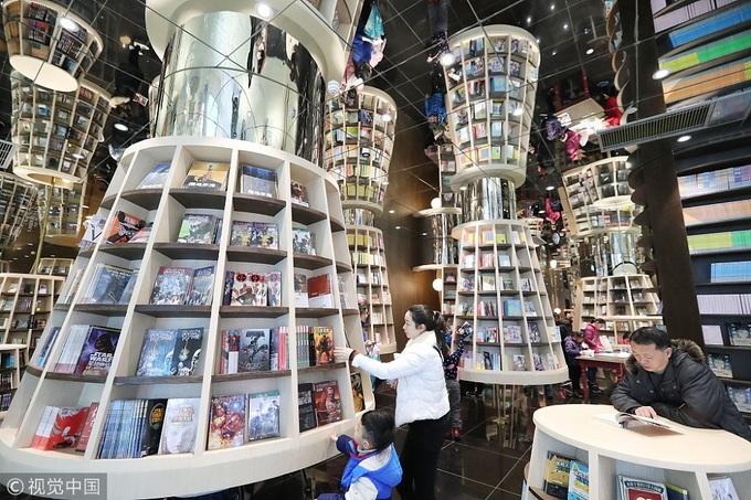 Hiệu sách có kiến trúc ngoạn mục thu hút giới trẻ ở Trung Quốc