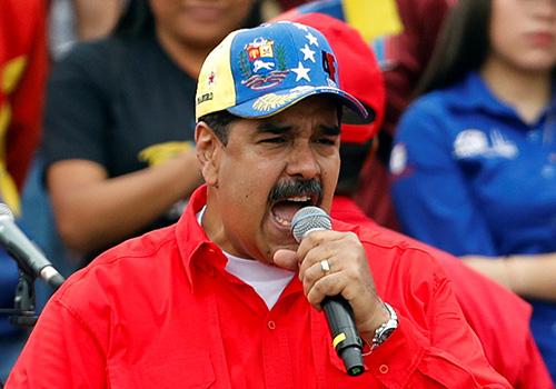 [Caption]ông Maduro phát biểu trước những người ủng hộ hôm 2/2 tại thủ đô Caracas,
