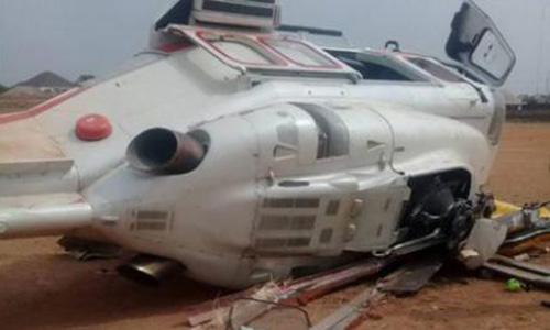 Trực thăng chở phó tổng thống Yemi Osinbajo gặp nạn hôm 2/2 ở Nigeria. Ảnh: CNN