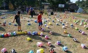 Nông trại heo đất thu hút em nhỏ ở Đồng Nai