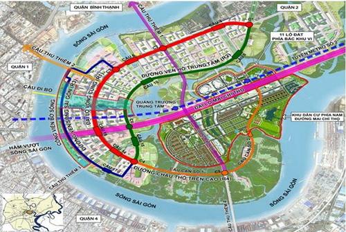 Quy hoạch Thủ Thiêm lần thứ 3 theo ý tưởng của Công ty Sasaki (Nhật Bản).