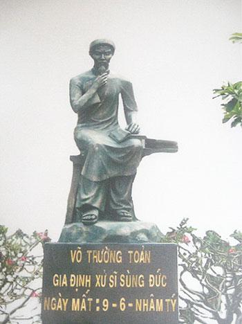 Tượng Võ Trường Toản ở Ba Tri, Bến Tre. Ảnh: vanhoahoc.vn
