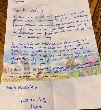 Bức thư của Lowri. Ảnh: Caters News