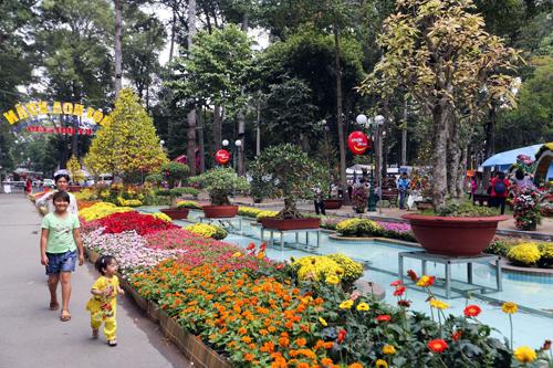 Công viên Tao Đàn ngay nay là một địa điểm xanh của TP HCM và là nơi tổ chức Hội hoa xuân lớn nhất TP HCM mỗi dịp Tết đến. Ảnh: Quỳnh Trần