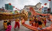 Hàng chục đoàn lân sư rồng xin lộc cầu may ở Sài Gòn